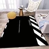 DREAMS COME TRUE WHEN YOU DON'T SLEEP Area Rug and Yoga Carpet for Home Living Room, Large Anti Slip Contemporary Rug for Floor Home Door