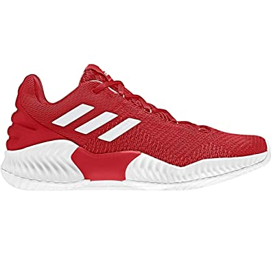 d0af6293ca1 Image Unavailable. Image not available for. Color  adidas Pro Bounce 2018  Low Shoe Men s Basketball 10.5 Red-White