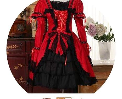 Amazon.com: . Vestido Lolita para disfraz gótico de vestido ...