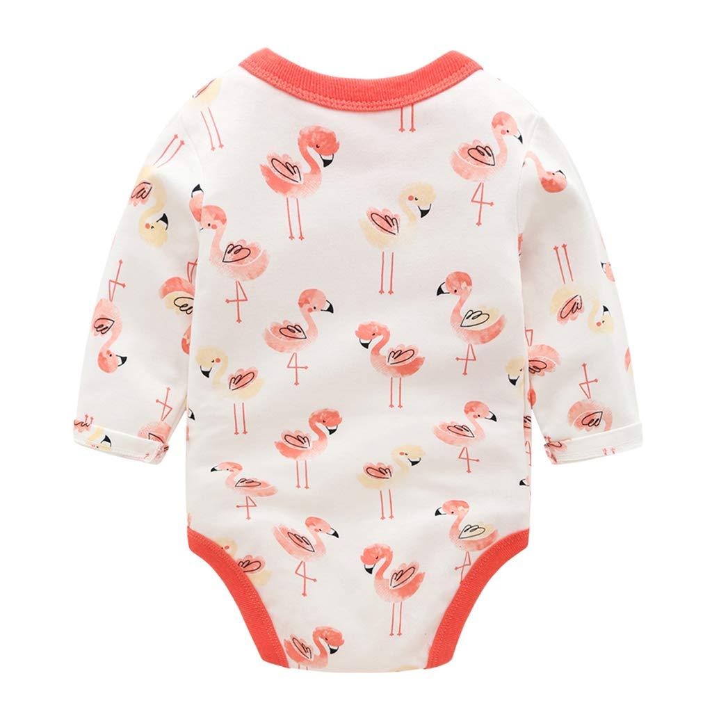 Bebé Mono Unisexo Mameluco Manga Larga Bodys Algodón Pijamas Flamenco Pelele, 0-3 Meses: Amazon.es: Bebé
