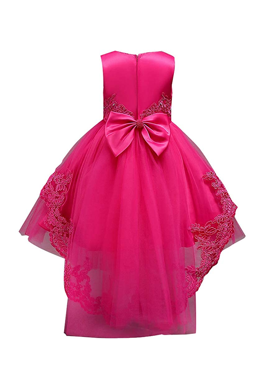 TYQQU Girl Tutu Trailing Dress Lace Embroidery Dress Princess Party Dress Soft Comfortable Dress