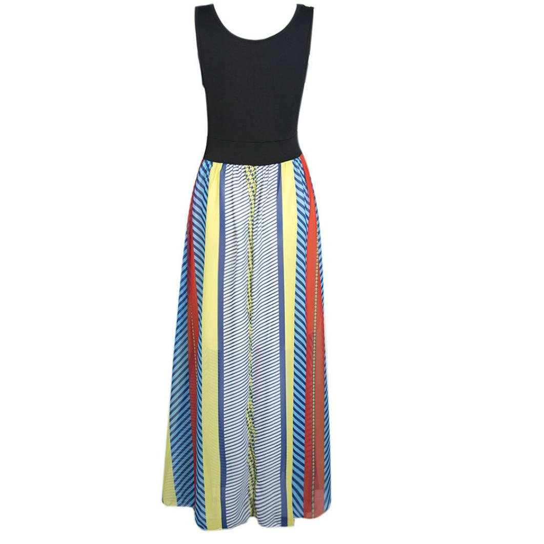 Usstore Women Bohemian Off The Shoulder Backless African Print Dresses (S) by Usstore (Image #4)
