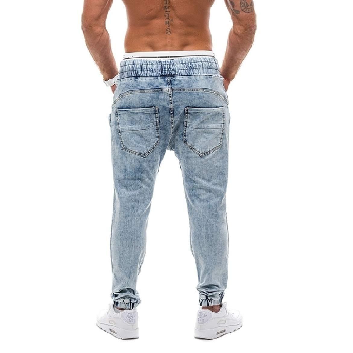willwinMen WillingStart Mens Oversize Washed Cozy Retro Drawstring Regular Fit Jean