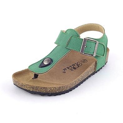 Cystyle Unisex-Kinder Zehentrenner aus Kork - Sandale geschlossener Fersenbereich (34(Shoe length:22.2cm), Stil 1)