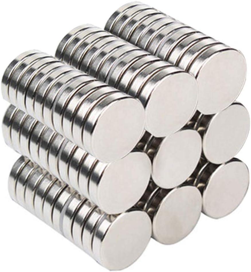 Fabur 70pz Neodimio Imán para Frigorífico Puerta, Imanes de Nevera para Pizarra DIY Manualidades Pasatiempos Oficina Multiusos (10 * 2mm)