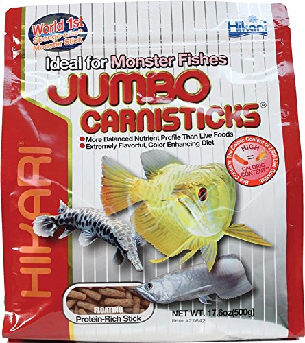 Hikari Usa Inc AHK21642 carnivoreivore Sticks Jumbo 17.6-Ounce (Best Food For Arowana Fish)