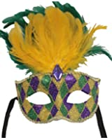 RedSkyTrader Mens Feathered Carnival Party Mask