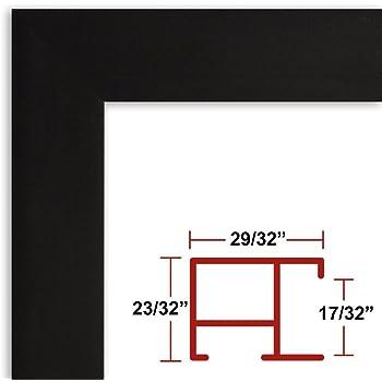 Amazon.com - 25 x 38 Poster Frame - Profile: #93 Satin Black Custom ...