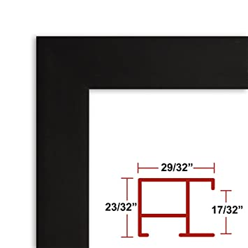 24 x 48 satin black poster frame profile 97 custom size picture frame
