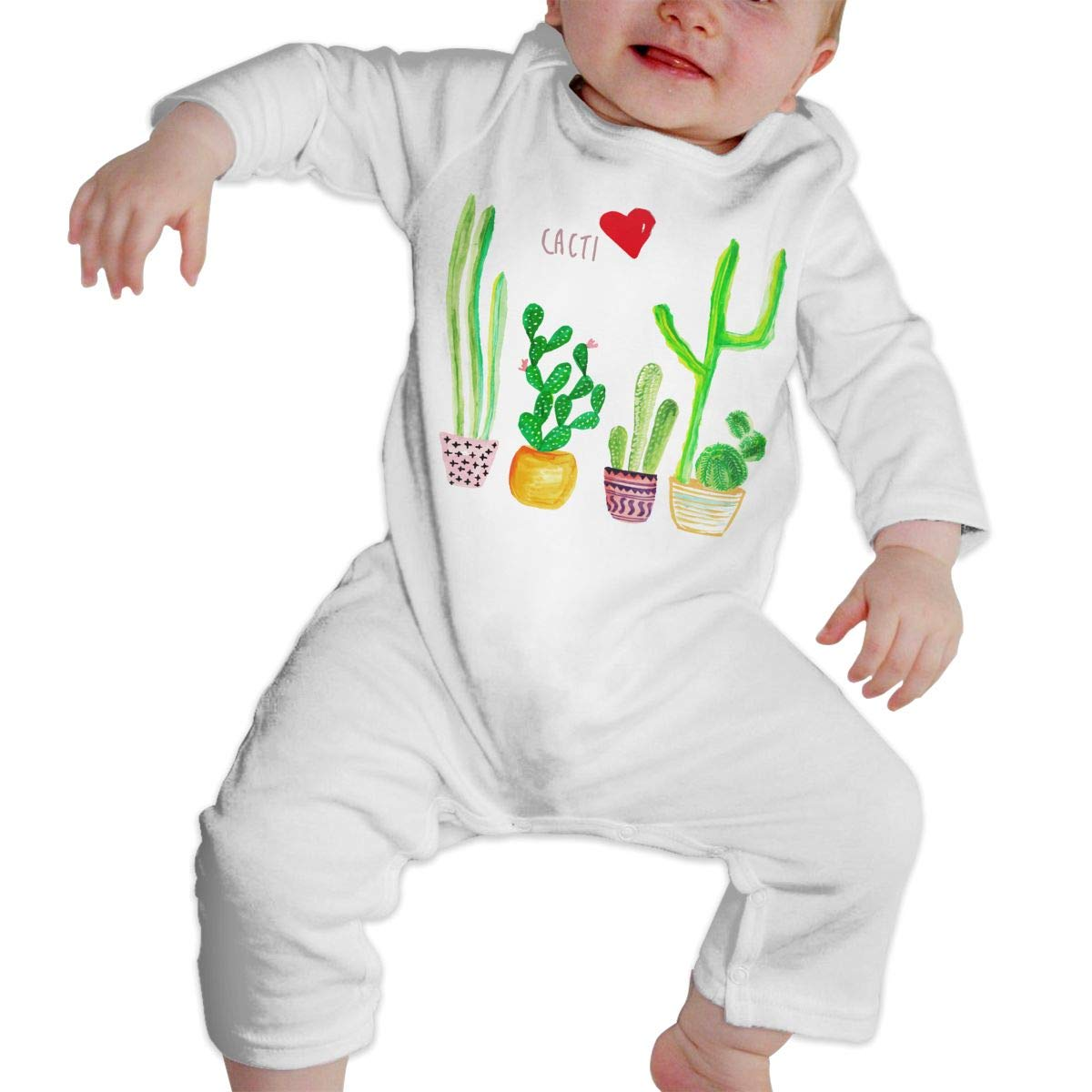 Infant Baby Girls Cotton Long Sleeve Cacti Cactus Love Baby Clothes One-Piece Romper Clothes