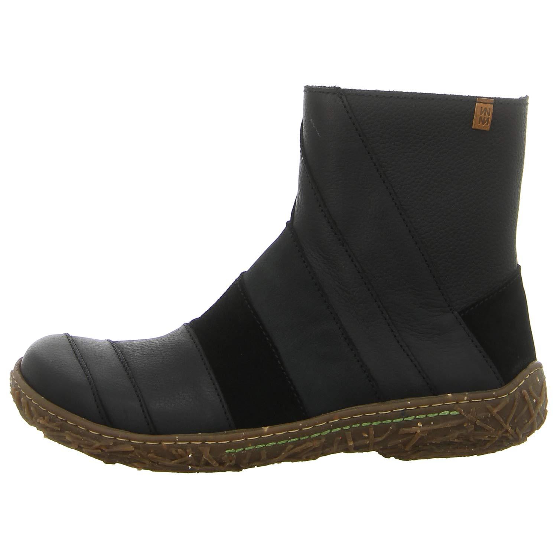 7a27059ec6cf El Naturalista Damen N5440 Mix Leather Black/Nido Kurzschaft Stiefel