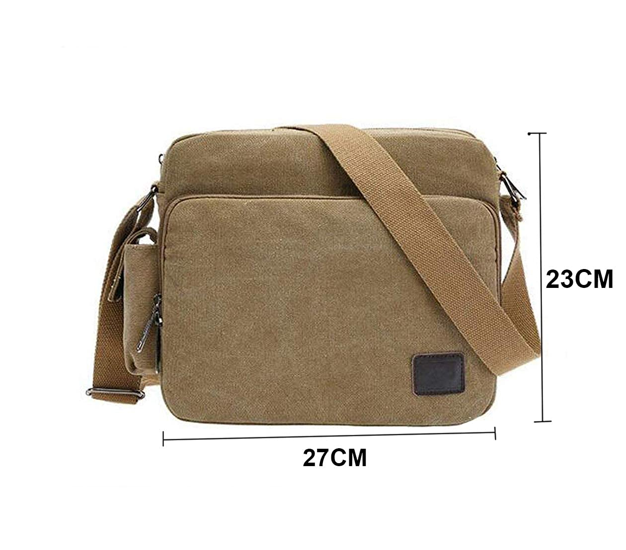 f5a957f4428ce Futurekart Men s Retro Military Canvas Messenger Bag Hiking Camping Bag  (Khaki)  Amazon.in  Shoes   Handbags