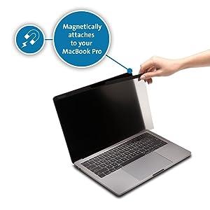 Kensington MP12 Magnetic Privacy Screen Compatible with 12 2016/2017/2018 MacBook (Color: Black, Tamaño: Macbook 12 (MP12))