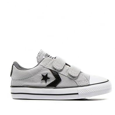 Converse Star Player 2V OX Gris 19: Amazon.es: Zapatos y