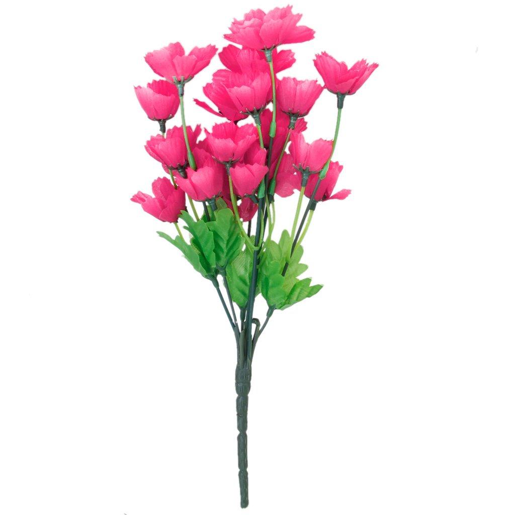 1 Mazzetto Finto Ciliegio Orientale Fiore Artificiale Bouquet Home Office Decorazione - Rosso L-FENG-UK