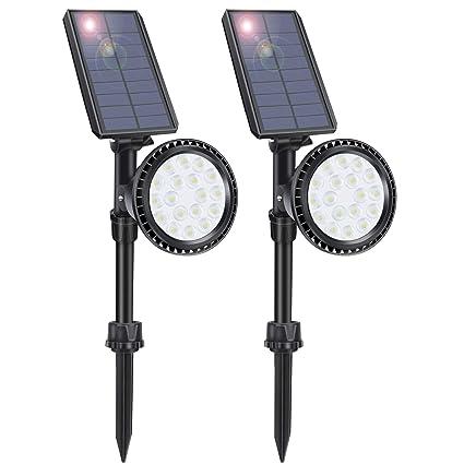 Amazon.com: LITSPOT - Luces solares para paisaje, 18 luces ...