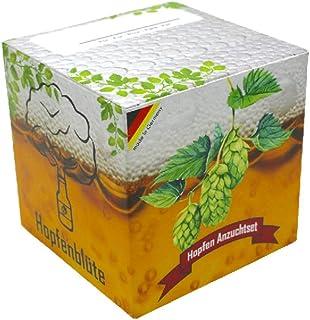 HOPFENBLÜTE ® - Geschenk-Anzuchtset - Männergeschenk Bier-Liebhaber - Hopfen Samen Anzuchtset - Witziges Geburtstags-Geschenk - Vatertag-Geschenk
