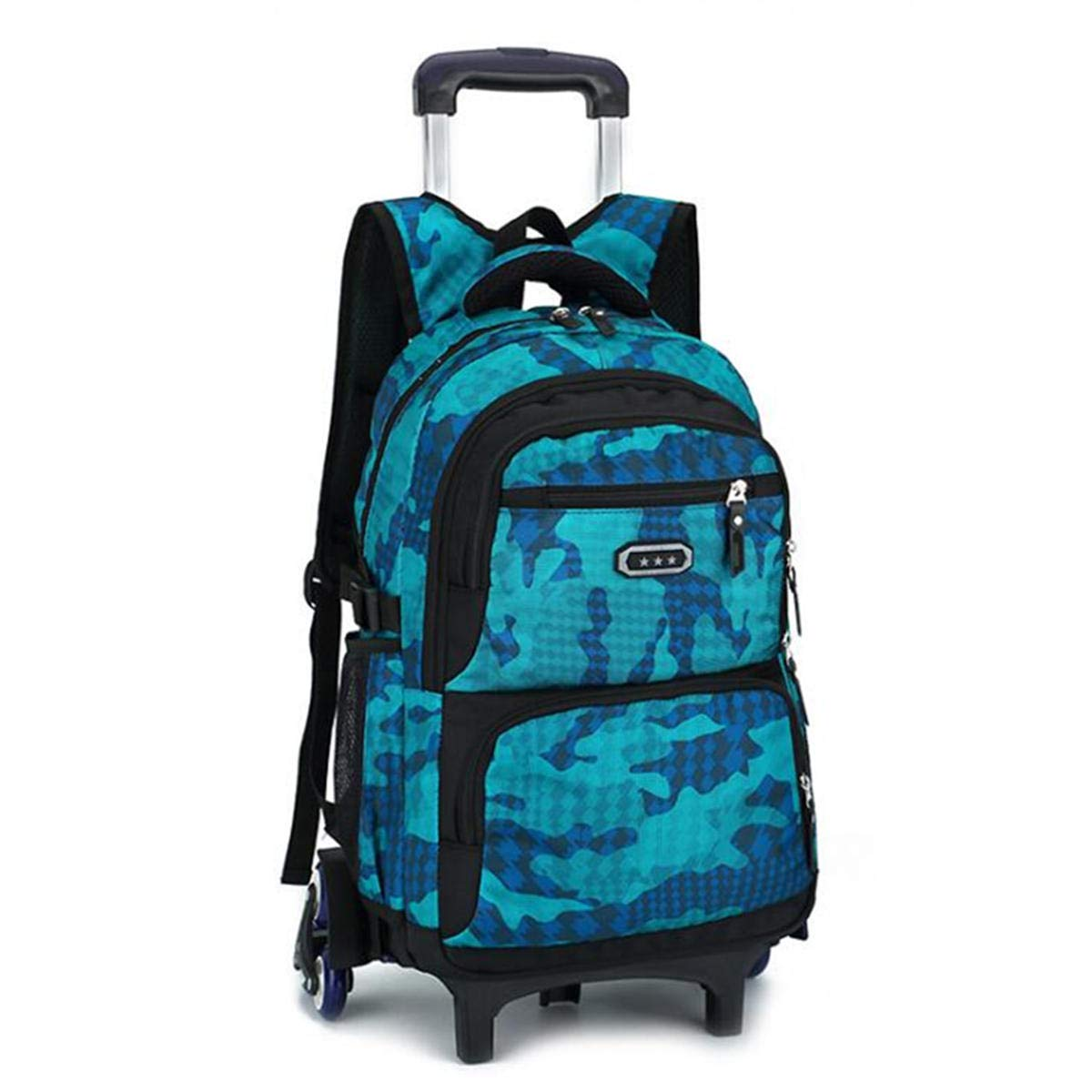 F.S.M. 29L Detachable Wheels Trolley Luggage Backpack Travel Rucksack Teenager Student School Bag Pack - Lake Blue A by F.S.M.