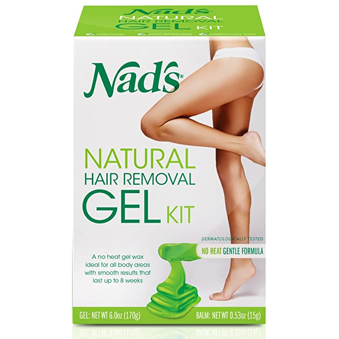Nads Natural Hair Removal Gel Kit, 6 Ounce by Lifesource Group US, Inc.: Amazon.es: Belleza