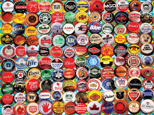 White Mountain Puzzles Beer Bottle Caps - 550 Piece Jigsaw P
