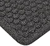 Notrax 150 Aqua Trap Entrance Mat, for Main Entranceways and Heavy Traffic Areas, 4' Width x 6' Length x 3/8'' Thickness, Charcoal