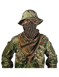 OneTigris algodón árabe Shemagh Keffiyeh Desierto táctico cabeza bufanda para hombres y mujeres