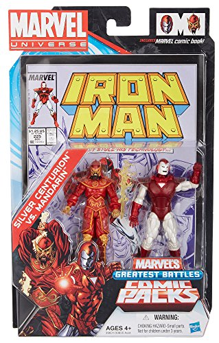 Silver Centurion vs. Mandarin - #225 Comic Book Action Figure 2-pack