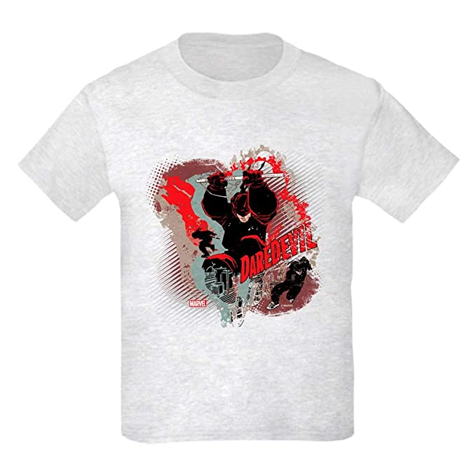 1277ab17aa2 CafePress Marvel Knight Daredevil 5 Kids Light T Shirt Kids Cotton T-Shirt  Ash Gray