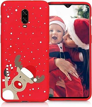 Yoedge Funda para OnePlus 6T, Cárcasa Silicona Rojo Navidad con Dibujos Nieve Ciervo de Diseño Antigolpes Case Bumper Fundas para OnePlus 6T Smartphone. (Ciervo 1): Amazon.es: Electrónica