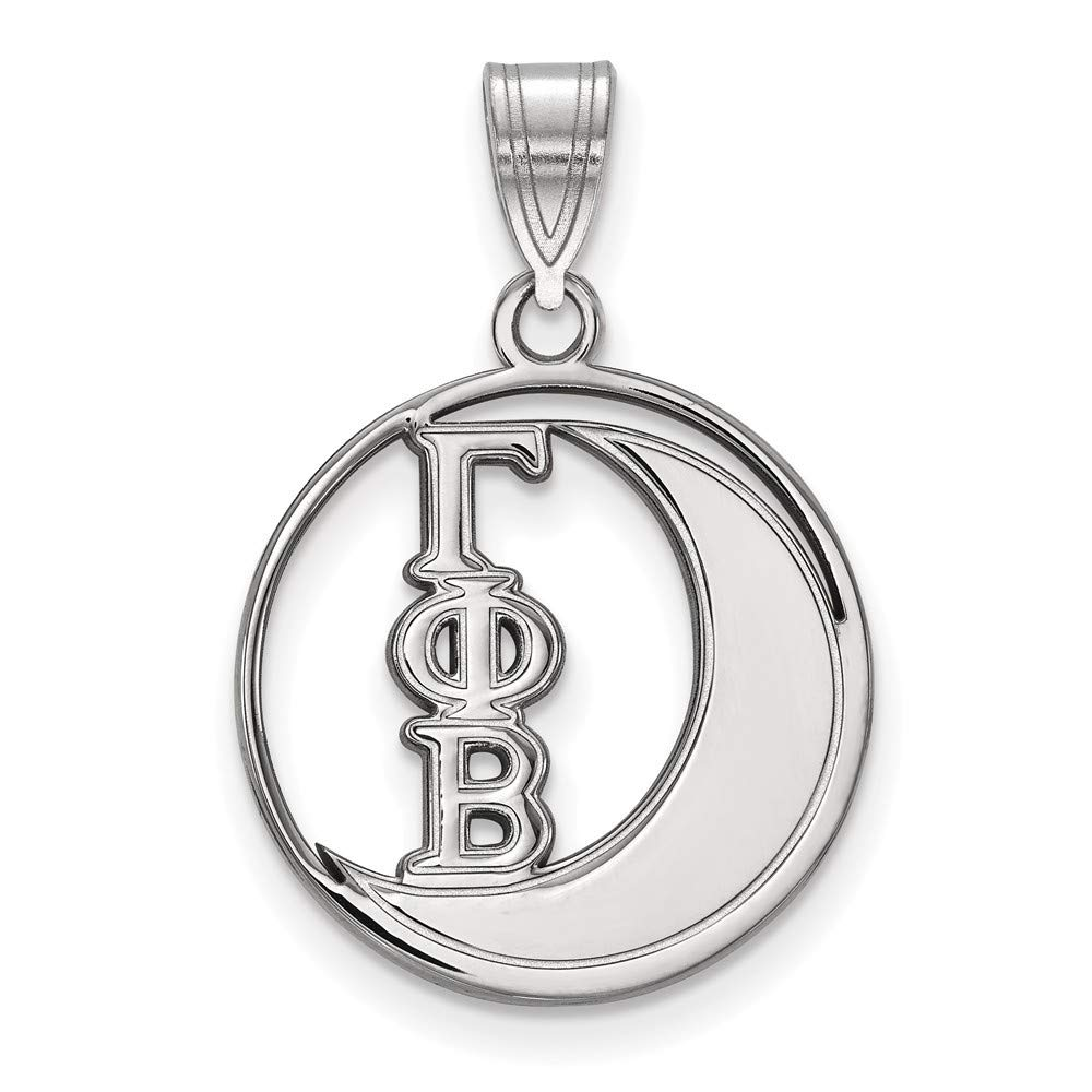 Roy Rose Jewelry Sterling Silver LogoArt Gamma Phi Beta Small Circle Pendant
