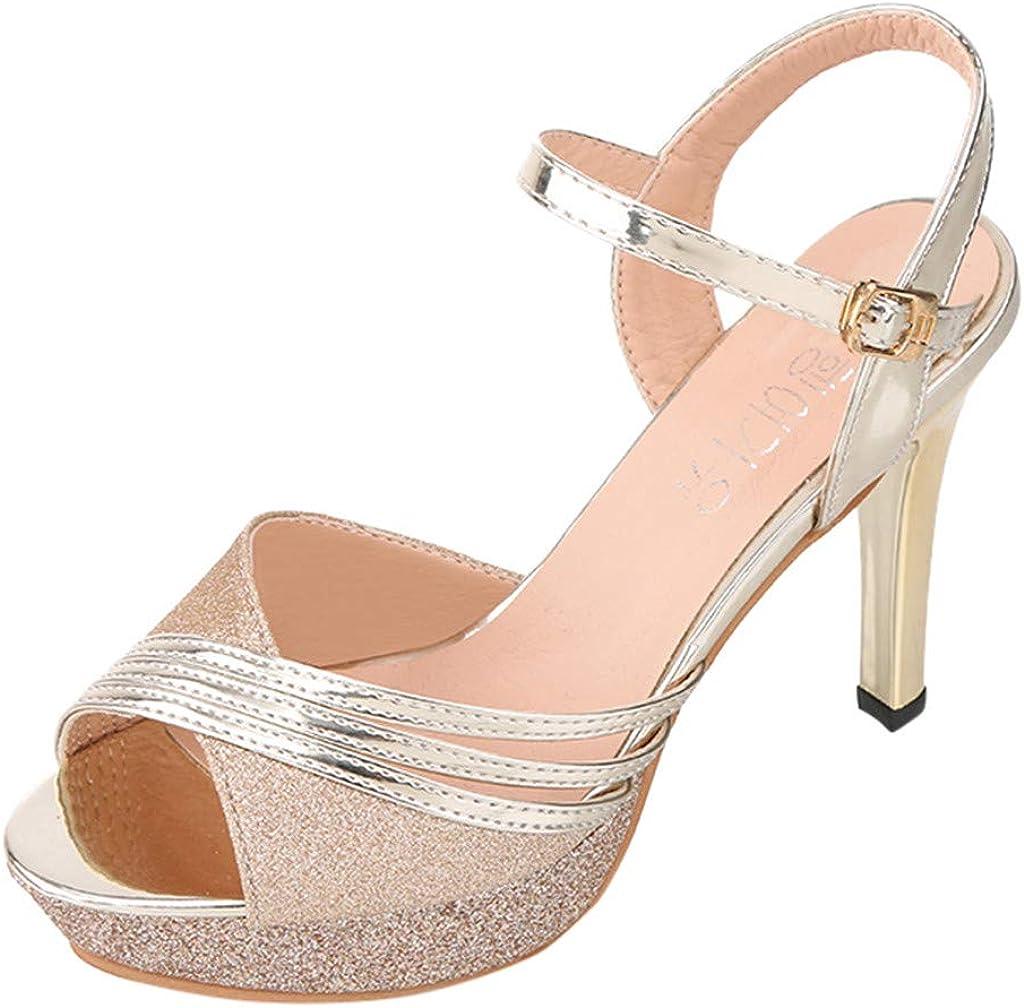 Womens Summer Elegant High Heel Sandals