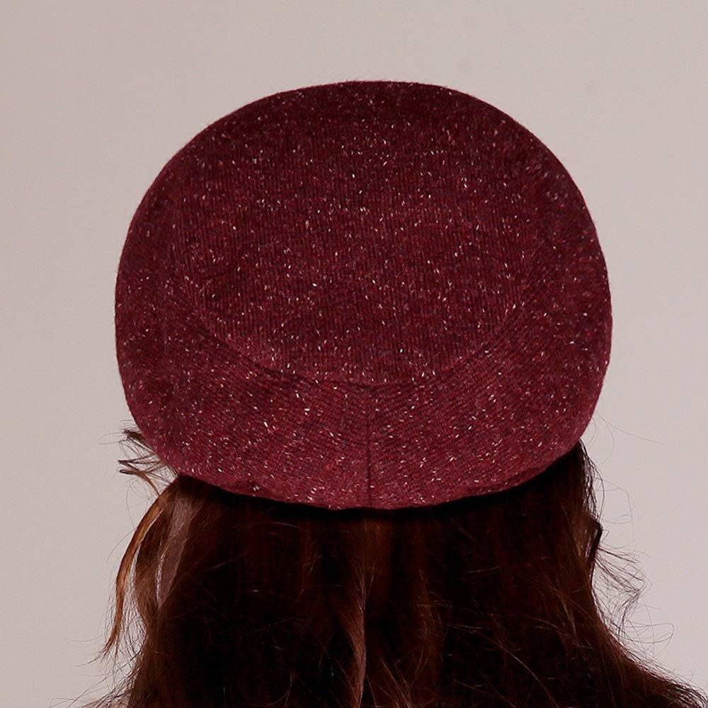 DUXX Sombrero, Boina Hembra otoño Elegante e Invierno excelente Elegante otoño Arco pequeño Sombrero Sombrero de Fedora Sombreros de Cubo Sombrero de Invierno (Color : A) 896cfe