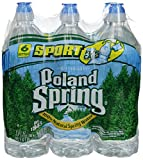POLAND SPRING 100% Natural Spring Water, 23.7-ounce plastic sport cap bottles (Pack of 6)
