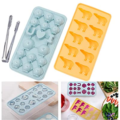 3D Polar-Bear// Penguin Jelly Chocolate Ice Cube Silicone Mould Maker Mould UK