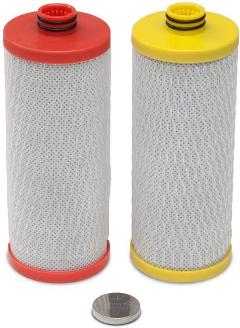 for AQ-5200R Replacement Filter Cartridges 2-Stage Under Sink Water Filtration System,Red and Yellow