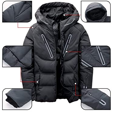 a44c761fc MAZF Winter Jacket White Duck Down Parka Casual Goose Feather Winter ...