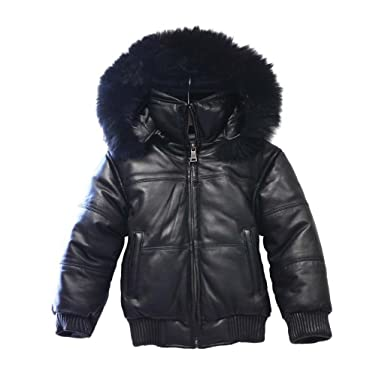 Amazon.com: Tanners Avenue Childrens Bubble Bomber Leather Jacket ...