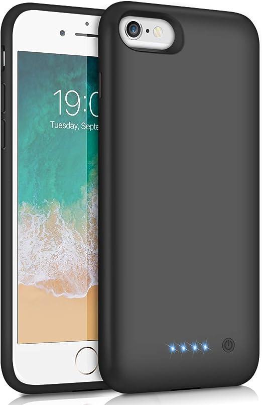 Ekrist Coque batterie pour iPhone 6/6S/7/8, [mise à niveau 6000 mAh] Coque de protection ultra fine et portable pour chargement de batterie ...