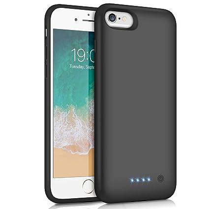 Feob Akku Hülle für iPhone 6 6S 7 8, [6000mAh] Ladebatterie Hülle Akku Zusatzakku Ultradünnes Schutzhülle Wiederaufladen Leis