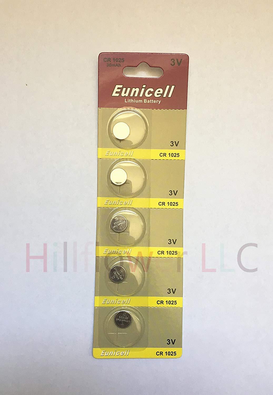 Hillflower 100 pcs CR1025 Card Blister 1025 BR1025 3V Lithium Premium Quality Battery and Hillflower Coupon