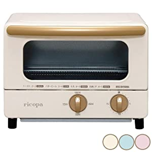 """IRIS OHYAMA Toaster Oven """"ricopa"""" EOT-R1001-C (Ivory)【Japan Domestic genuine products】"""
