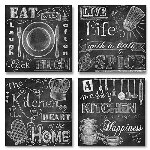 A Messy Kitchen Is A Sign Of Happiness: Beautiful-Fun-Chalkboard-Kitchen-Signs-Messy-Kitchen-Heart