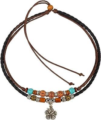 Vintage men s choker necklace tribal style