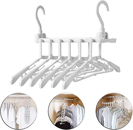 Space Hook Hole Organizer One Rack Travel Clothes Hanger Foldable Folding MI