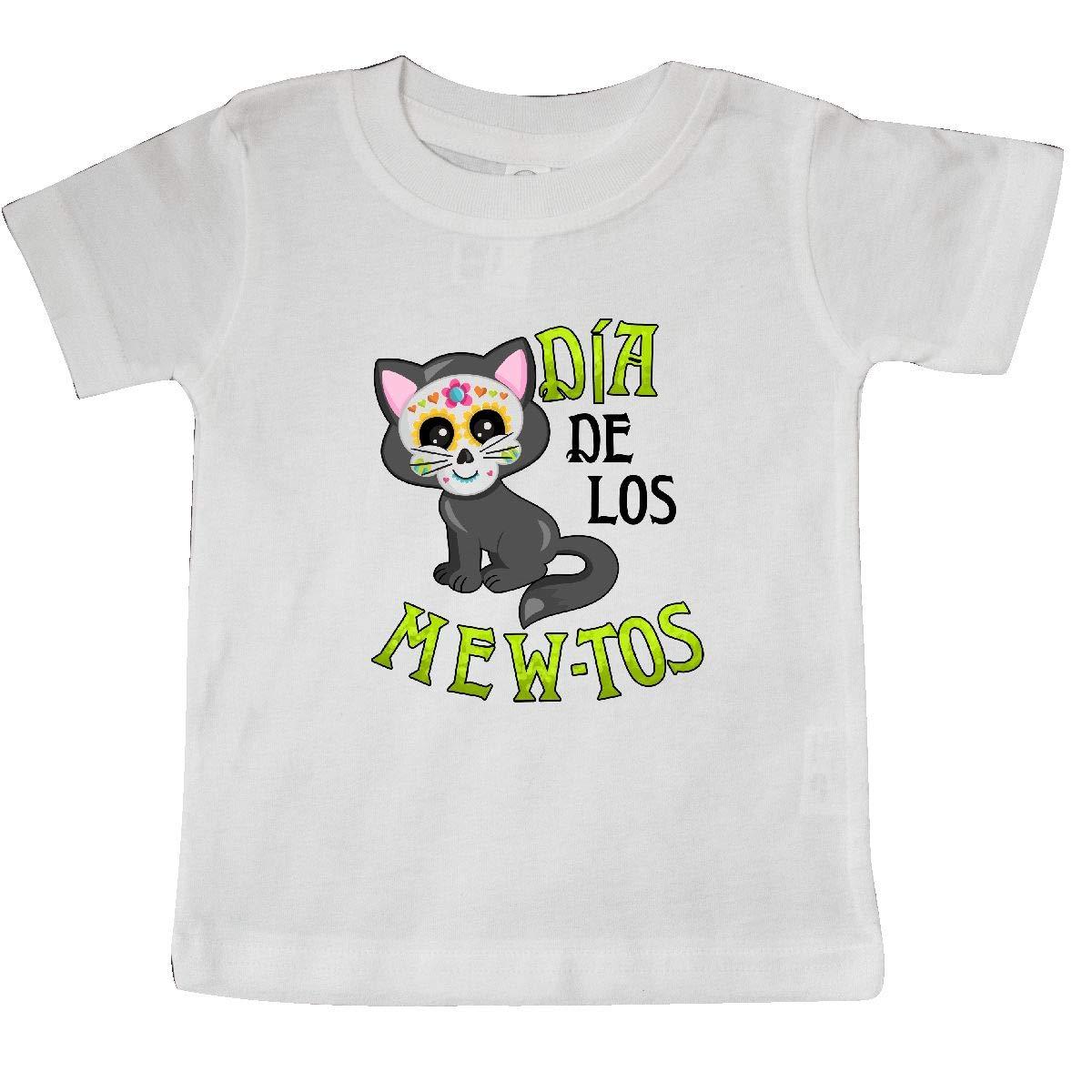 inktastic D/ía De Los Mew-TOS Day of The Dead Cat Baby T-Shirt