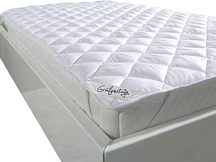 Cubierta protectora de colchón Gräfenstayn® con relleno especial de fibra climática - diferentes tamaños - junta Öko-Tex - protector de colchón de ...