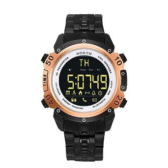 Bluetooth 4.0 Smart Watch Hombre Deportivo Acero Inoxidable ...