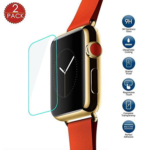 19 opinioni per [2-Pack] Apple Watch Pellicole protettive per display,MaKer Screen Protector