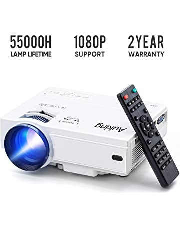 f6c9edbb23 Mini Projector 2019 Upgraded Portable Video-Projector,55000 Hours Multimedia  Home Theater Movie Projector