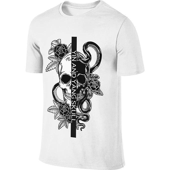 Cool Yin y Yang Tribal cráneo Camiseta de Manga Corta de los ...